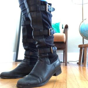 Cole Haan Nike Air Leather Buckle Boot